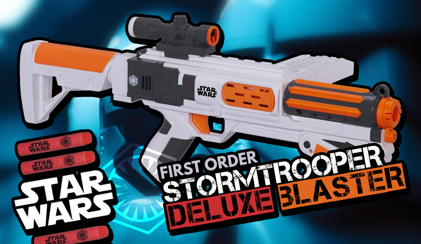 Star Wars First Order Stormtrooper Deluxe Blaster - Header