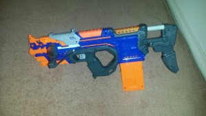 My attempt at a Crossbolt with extended stock.