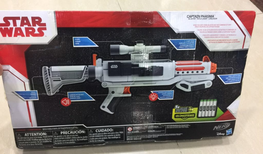 star wars captain phasma blaster back box